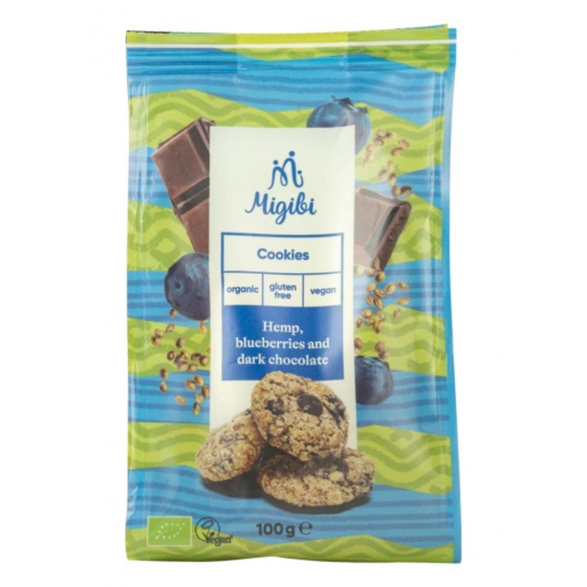 Migibi Курабийки с коноп, боровинки и шоколад - био, 100 гр