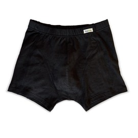 Мъжки боксер от Коноп/Памук – Втален, черен цвят