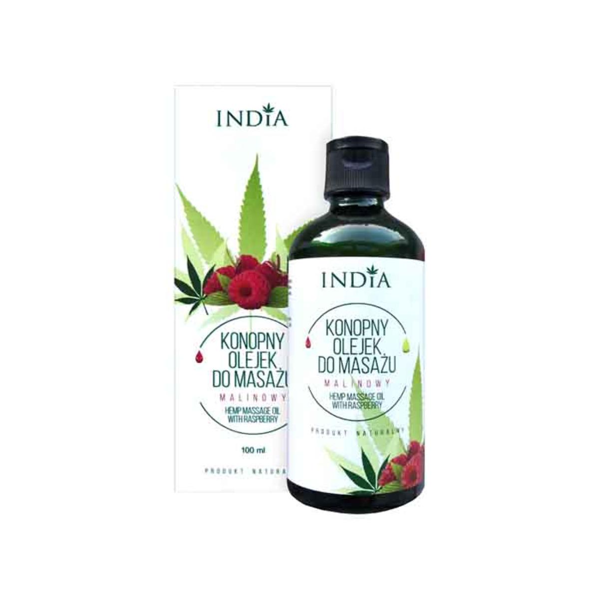 INDIA Масажно конопено масло с малина